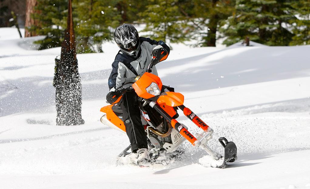 Lumejalgrattasõit ehk ski biking. Foto Robin Haldane