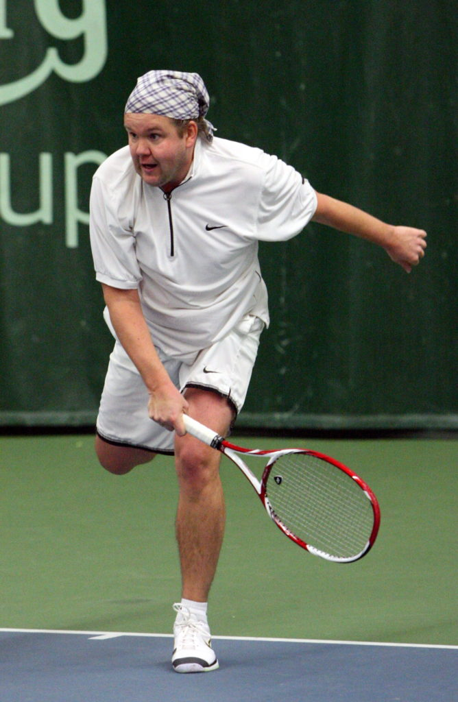 Spordikommentaator Margus Uba armastab ka tennist mängida.