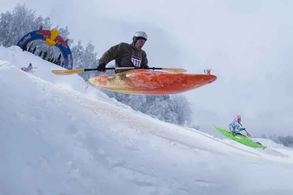 Sõit lumekajakiga. Foto Jaanus Ree Red Bull Content Pool
