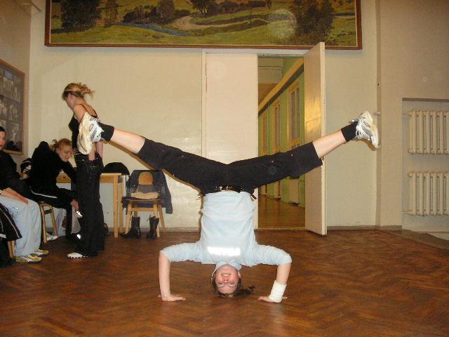 Ksenia teismelisena tantsuvõistlustel