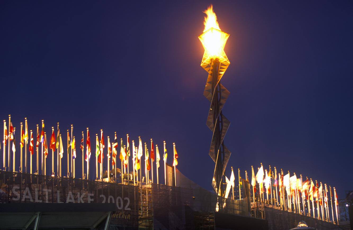 Salt Lake City 2002 olümpiatuli Foto Joseph Sohm/Shutterstock.com