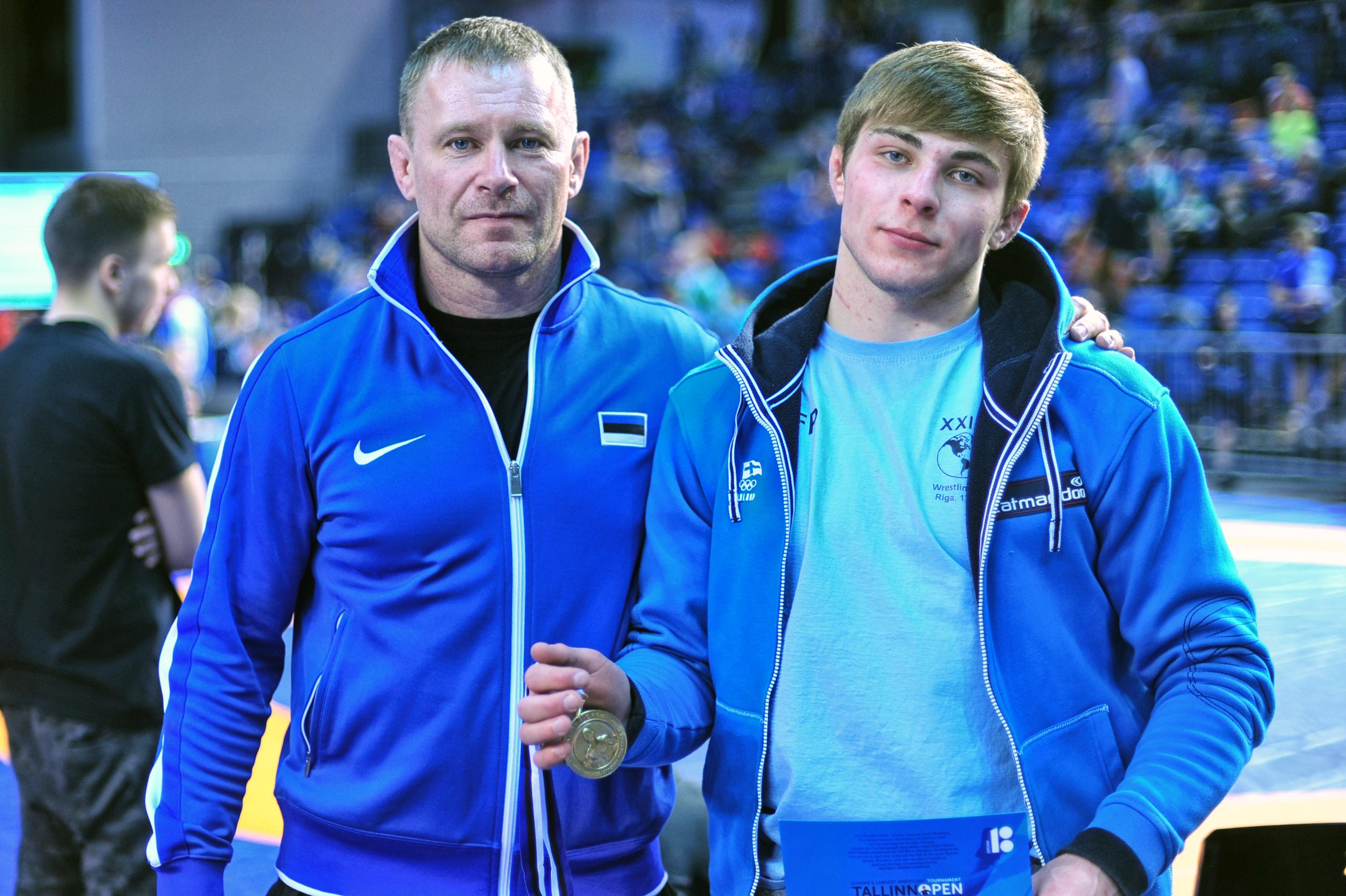 Erik koos treener Aleksei Hapoviga