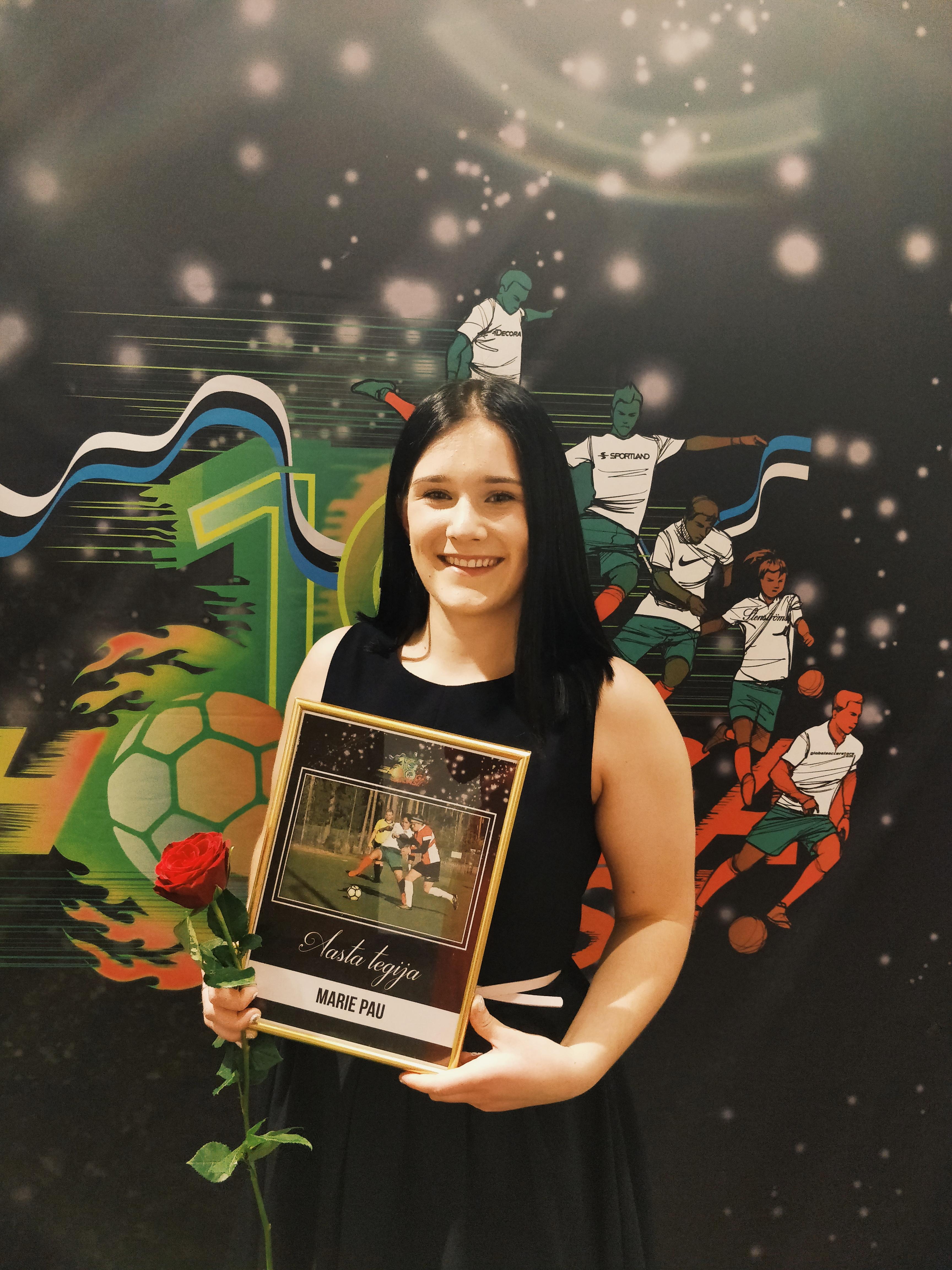 FC Elva auhinnagala, kus Marie pälvis tiitli Aasta tegija 2018 Foto: erakogu