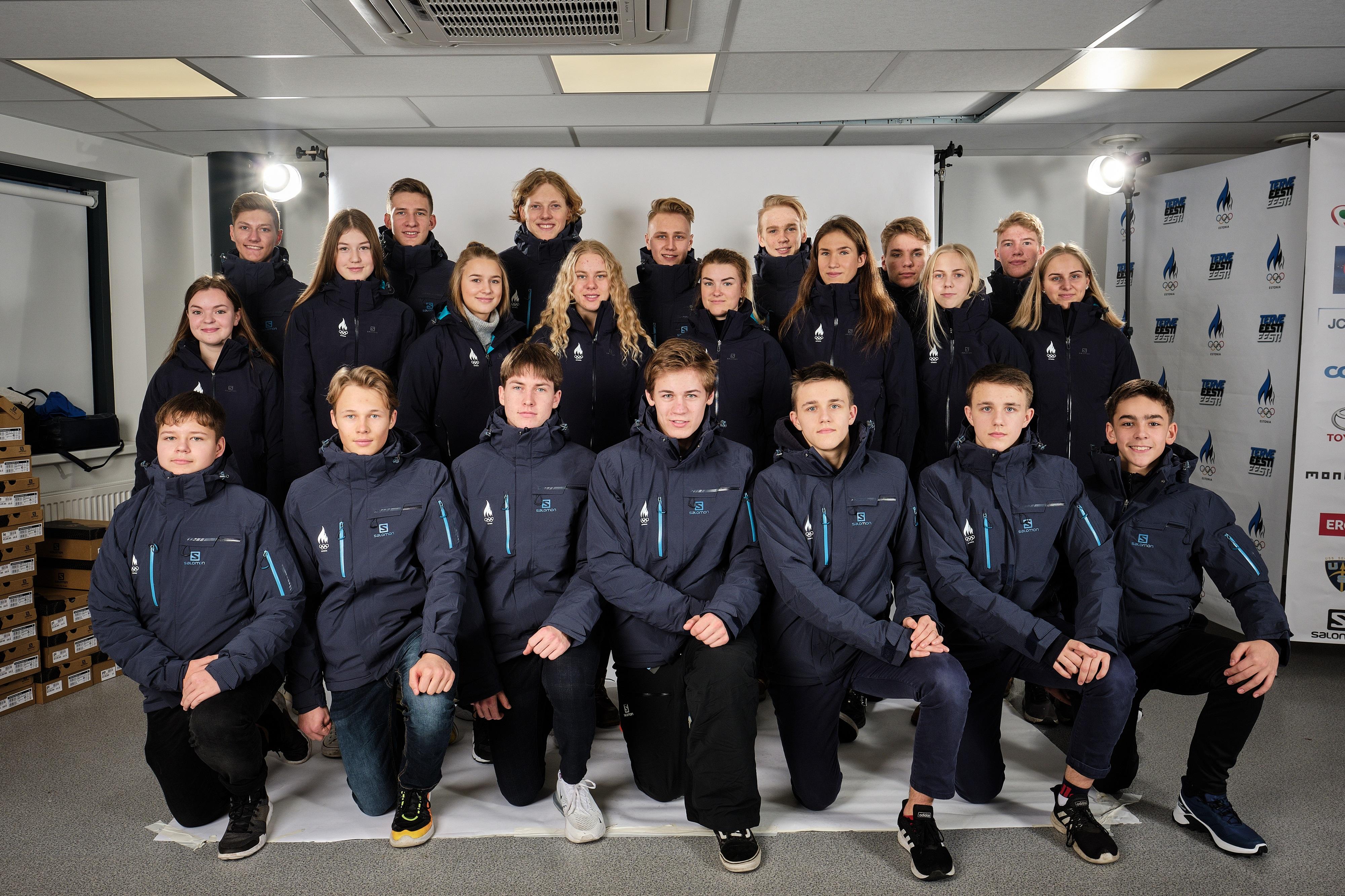 Eesti noorte olümpiakoondis Foto: EOK