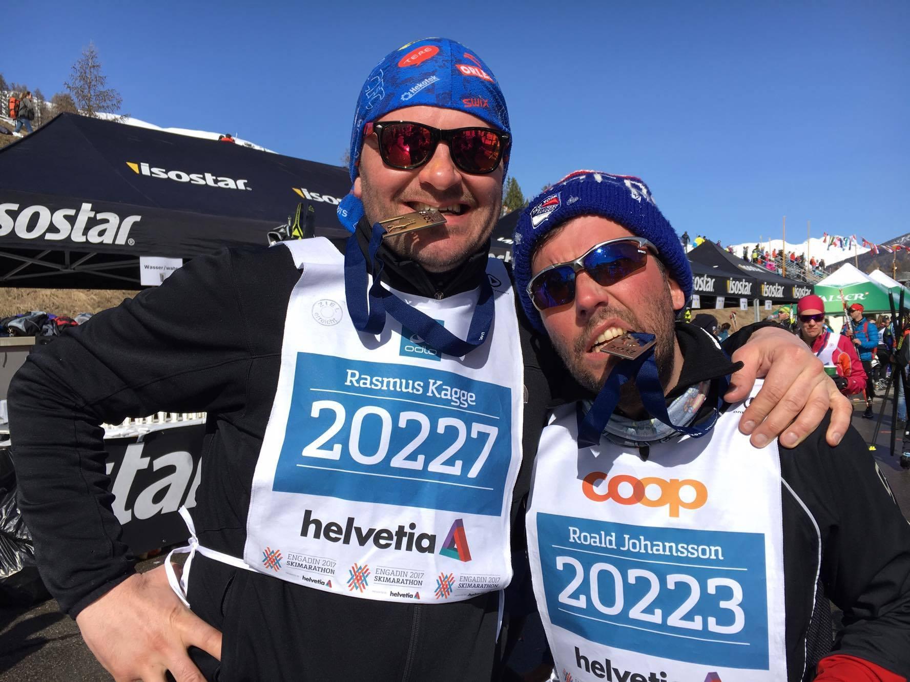 Rasmus Kagge ja Roald Johannson, Engadin 2017