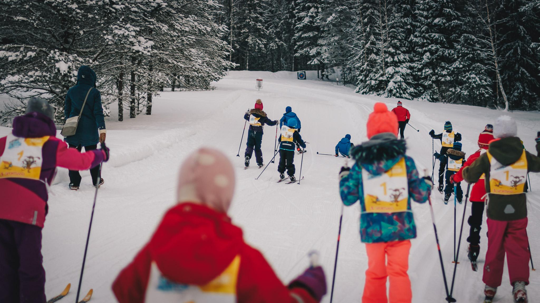 Väikesed suusasõbrad Sportland Kõrvemaa suusamaratonil